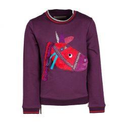Equi Theme Pilpoil kinder sweater paars maat:128